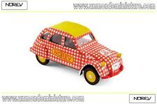Citroën 2 CV 6 Spécial 1980 Cycliste Red And White NOREV - NO 310601 - Ech 1/64