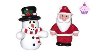 Cake Topper Christmas Cake Decorations Figures Santa Snowman