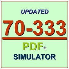 Latest 70-333 Verified Practice Test 333 Exam QA PDF+Simulator