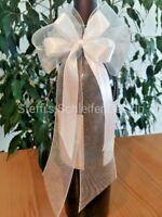 25 Antennenschleifen Autoschleifen Hochzeitsdeko Schleifen Deko Hochzeit weiß