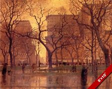MADISON SQUARE GARDEN NEW YORK AFTER THE RAIN PAINTING ART REAL CANVAS PRINT
