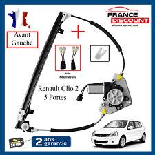 LEVE VITRE ELECTRIQUE AVANT GAUCHE AVEC MOTEUR + ADAPTATEURS CLIO 2 – 5 PORTES