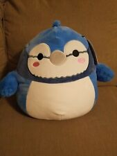 """Squishmallow Babs The Blue Jay 12"""" NWT Kelly Toys 2021"""