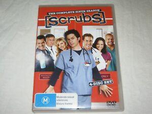 Scrubs - Complete Season 6 - 4 Disc Set - Region 4 - VGC - DVD