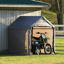 Metal Canopy Outdoor Sports Motorcycle Storage Shed Cover Waterproof 6 Ft.x6Ft.