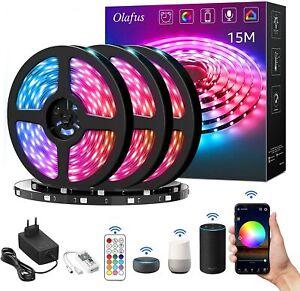 LED Stripe, Lichterkette, 10 Meter Alexa, Google, Wifi Steuerung, 5050SMD RGB
