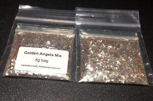 """Chunky Nail Art Iridescent Gold Glitter Mix  - """"GOLDEN ANGELS"""" - 5g Bag"""