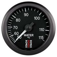 Medidor de temperatura de agua mecánico de Pila-Dial de 52mm con cara negra