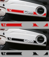 1 X BANDE ABARTH RACING TABLEAU DE BORD FIAT 500 AUTOCOLLANT STICKER BD536-4.