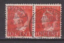 Nr 274 pair TOP CANCEL DJOKJAKARTA 1941  NETHERLANDS INDIES NEDERLANDS INDIE
