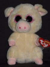 """TY BEANIE BOOS BOO'S - PIGGLEY the 6"""" PIG - MINT with MINT TAGS"""