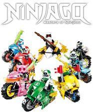 Ninjago Lot Season 12 Custom Motorcycles 8 Minifigures Set - Usa