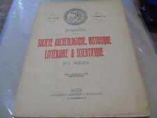 Bulletin de la société archéologique du Gers 1961 Sulpice Sévère Fleurance Eauze