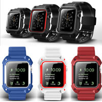 Armor Protector Case +Wrist Strap Bands Apple Watch Series 3 2 1 iWatch 38mm/42