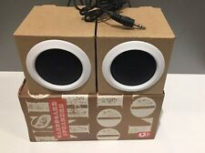 Ginger Fox Carboard Stereo Speakers, Fold flat & Fun, New, fit headphone socket