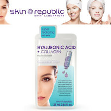 Skin Republic Hyaluronic Acid + Collagen Super Hydrating Face Mask Sheet 25ml