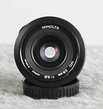 Minolta 28mm F2.8 MD Wide Angle Prime Lens.  OEM Lens!  Tested/Guaranteed