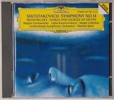 SHOSTAKOVICH: Symphony No. 14, Mussorgsky, Jarvi DGG Full Silver CD NM Germany