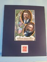 Rough Rider Teddy Roosevelt Runs for President in 1904 honored by his own stamp