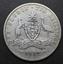 Australia Florin 2 Shilling 1932  gVG  F193201