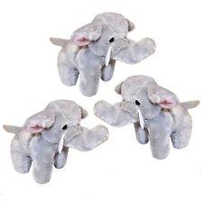 3 Small Elephant Soft Cuddly Toys - Plush Stuffed Safari Jungle Animals
