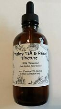Wild Harvested Turkey Tail & Reishi Mushroom Double Extract Tincture 4 oz