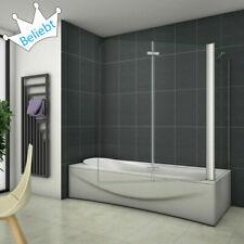 Badewannenaufsatz Faltwand Duschwand 6mm NANO-GLAS Duschabtrennung Seitenwand VS