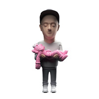Brian Donnelly aka KAWS Action Figure by Danii Yad (white/pink/grey variant)