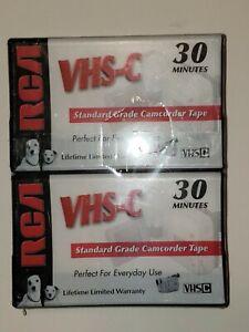 2 Pack RCA VHS-C 30 Minutes Standard Grade Camcorder Tape Brand New NIP