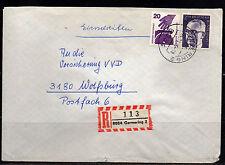 0168# internazionale raccomandata R-Lettera da 8034 Germering del 24.11.1975
