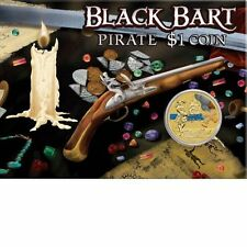 2011 Tuvalu Pirates Carded Perth Mint $1 Coin - Black Bart