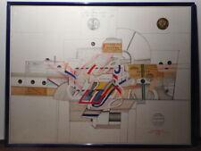 Lithographie d'après Saül STEINBERG via air mail peintre juif roumain américain