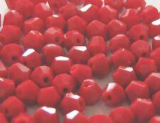 100 Abalorios CRISTAL rojo tupi 4mm