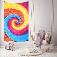 Psychedelic Wall Hanging Tapestry Twin Indian Tie Dye Spiral Mandala Bedding Art