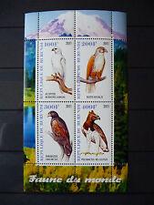 Vögel 004 birds oiseaux Falken falkon 2011 Tiere animals Fauna postfrisch ** MNH