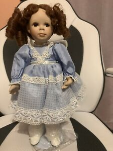 "Porcelain Doll 14"" Tall"