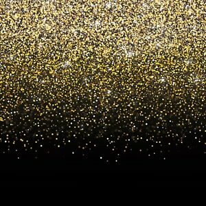 Black and Gold Photo Booth Backdrop Banner - 6x6ft - USA Fast Shipping