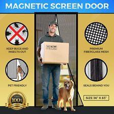Magnetic Mesh Bug Screen Door - Strong Magnets, Premium Fiberglass Curtain -