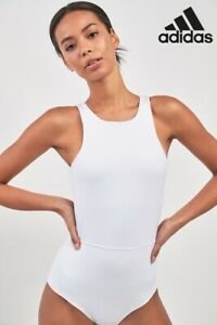 Brand New White Adidas White Wanderlust Bodysuit *Support/Yoga/Fitness RRP £48*M