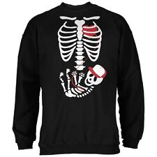 Halloween Baby Boy Skeleton Black Adult Sweatshirt