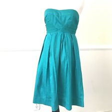 dELiA*s Strapless A-Line Party Dress Womens Juniors Size 1 Teal Sweetheart Neck