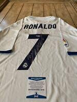 Cristiano Ronaldo Autographed/Signed Jersey Beckett COA Soccer Juventus