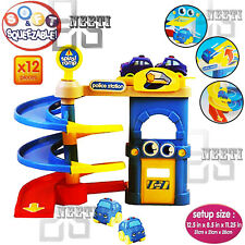 KIDS POLICE STATION PARKING GARAGE SOFT SQUEEZABLE CARS PLAY TOY SET XMAS GIFT