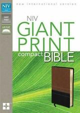 NIV Giant Print Compact Bible by Zondervan Staff (2011, Leather, Special)