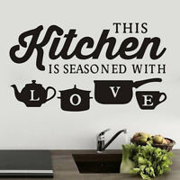 DIY Creative KITCHEN Wall Sticker Vinyl Removable Decal Art Mural Kitchen Decor