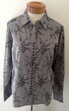 SCULLY PSL- 201 Ladies Damask Floral Western Shirt - Black Size M - NWT
