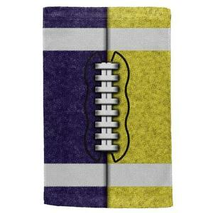Fantasy Football Team Navy and Yellow All Over Sport Towel