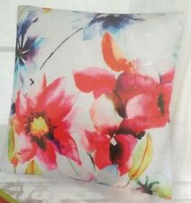 Pillow Cover Decorative Throw 17.5 x 17.5 Watercolor Flowers Floral