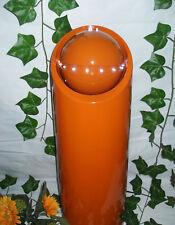 Zimmerbrunnen Kunststoff und LED Orange