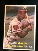 1957 Topps Hank Aaron Milwaukee Braves #20